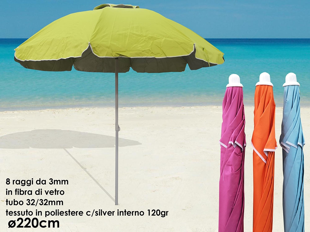 Ombrellone Da Spiaggia Pieghevole.Ombrellone Da Mare E Spiaggia Piscina Pieghevole Sole Coprente D