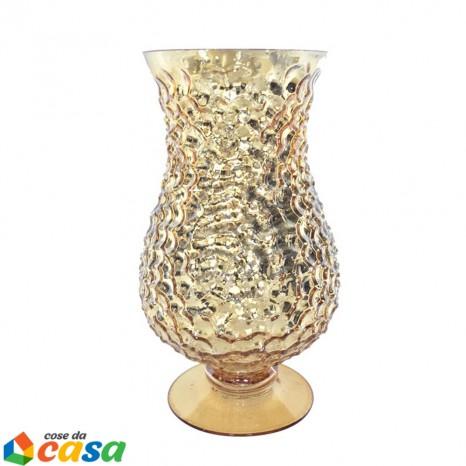 Calice portacandela in vetro oro