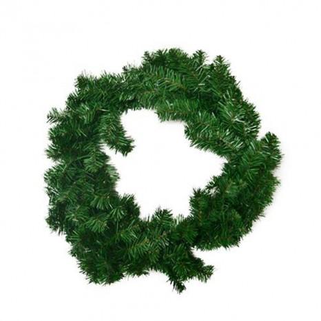 Ghirlanda verde cornice per decorazioni natalizie addobbi allestimento negozio casa porte portoni interni ed esterni molto folta