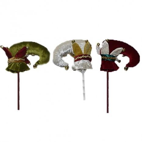 Decorazioni addobbi da albero di natale scarpa giullare stella bianco rosso verde allestimento ornamento ghirlande casa pacchi regalo cm 51