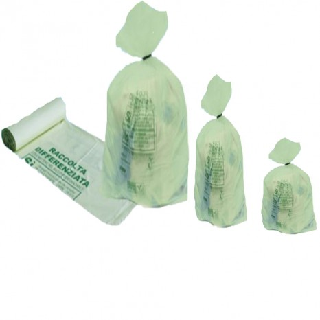 Sacchetti per rifiuti organici biodegradabili compostabili