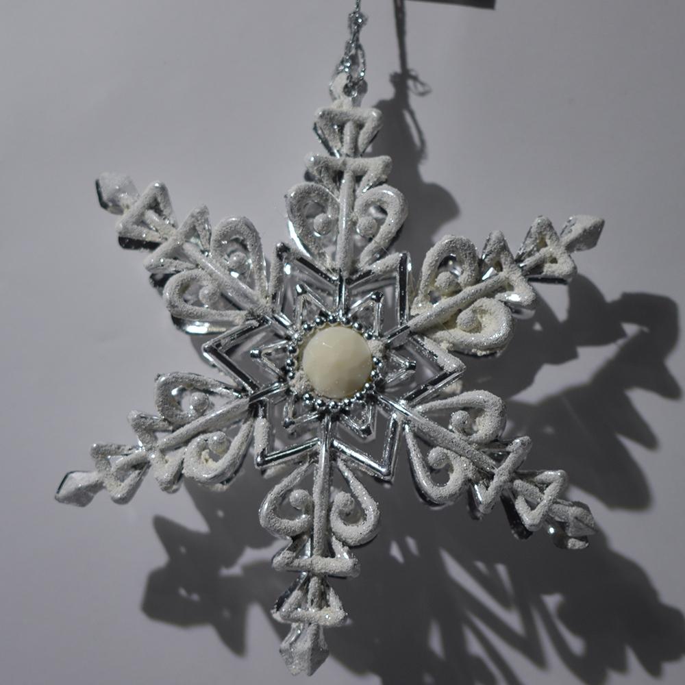 Addobbi Natalizi 202016.Stella In Argento E Bianco Da Addobbi Per Albero Di Natale Decorazioni Natalizie Ebay